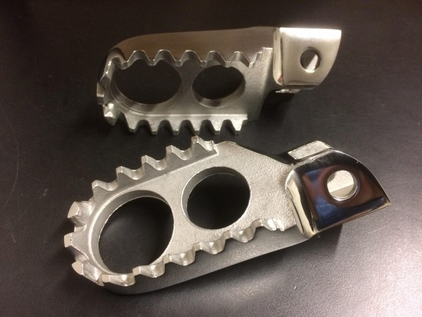 Yamaha YZ125 YZ250 1987-96 stainless Wide Foot Pegs