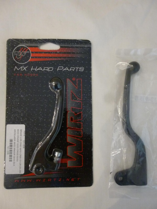 Honda CR125/250/500 1984-86 front brake and clutch lever set