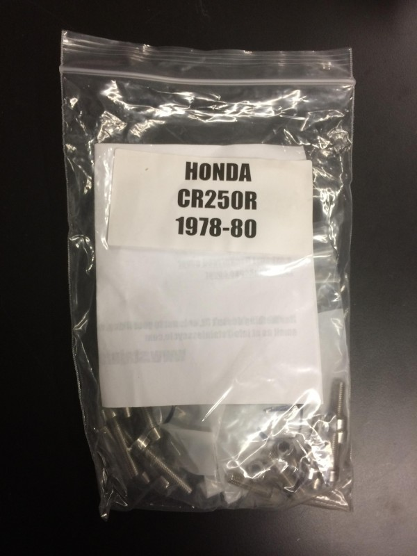 Honda CR250 1978-80 Engine Bolt Set